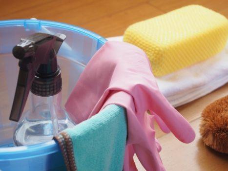 掃除用の道具を用意する